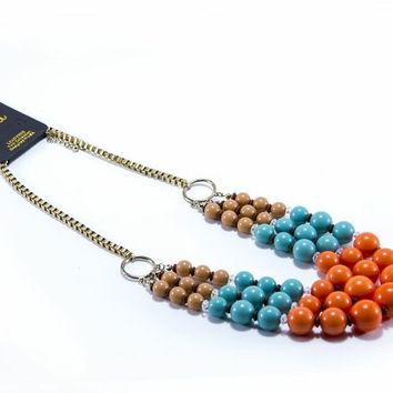 Orange Trifecta Necklace