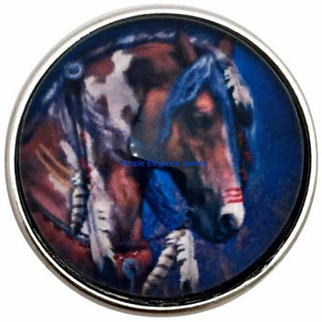Indian War Horse Snap 20mm for Snap Jewelry