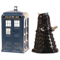 Dr Who Tardi Dalek Salt and Pepper Shakers