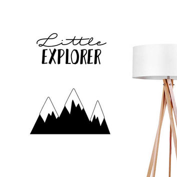Little Explorer Wall Decal, Typography Wall Sticker, Kids Sticker, Typography Decal, Nursery Decal, Bedroom Wall Decal, Boys Room Decal