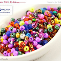 ON SALE 30% off Czech Seed Beads size 6/0 (20g) Mixed Mix Colorful Bright Preciosa Ornela Rocailles NR 192 Opaque