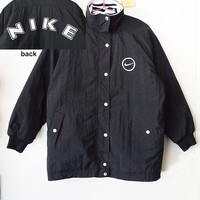SADBOYS // Vintage 90s Nike Puffy Jacket Hip Hop Clothing Windbreaker Health Goth Size M