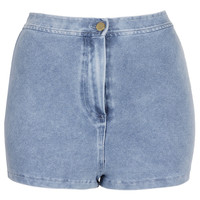 Denim Look High Waist Shorts - Shorts - Clothing - Topshop