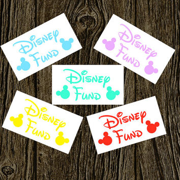 My Disney Fund Vinyl Decal | Disney Stickers | Disney Decal | Disney Vacation | Love Sticker | Love Decal  | Car Decal | Car Stickers |