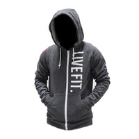 Live Fit. Apparel — Live Fit Zip Up - Charcoal
