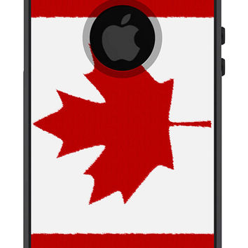 Otterbox iPhone 5 Case Commuter Series iPhone 5 5s Canadian Flag Canada Maple Leaf Hockey Olympics Protective Plastic Hard Cover OB-1107