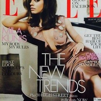 Elle Uk, August 2012, Mila Kunas Cover