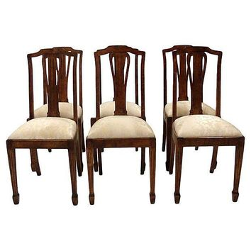 Pre-owned Danish Late 19th Century Dining Chairs - Set of 6