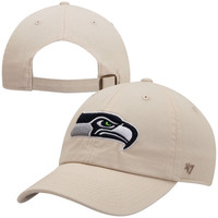 47 Brand Seattle Seahawks Clean Up Adjustable Hat - Natural