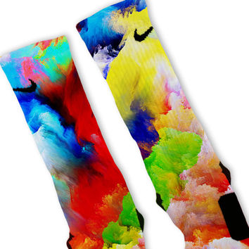 Future Galaxy Custom Nike Elite Socks
