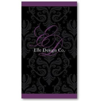 Classy Damask Business Card from Zazzle.com