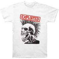 Exploited Men's  Pushead Skull T-shirt White
