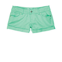 Olivia Sateen Short Mint Leaf