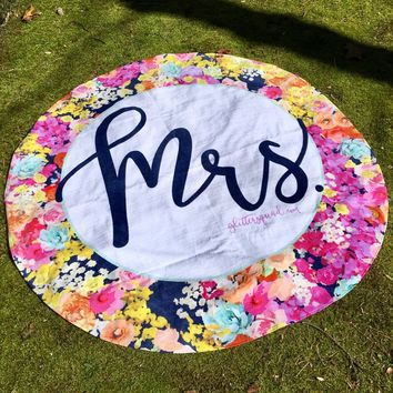 "60"" Round Beach Towel  - Custom Beach Towels - Personalized"