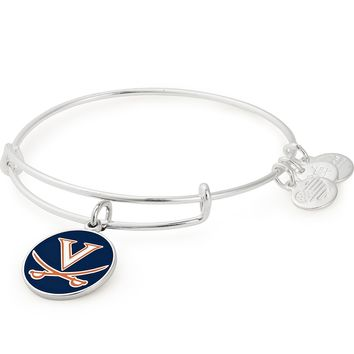 University of Virginia Logo Color Infusion Charm Bangle