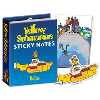 Here's a Yellow Submarine sticky note book featuring characters from the movie! Let the Fab Four, Blue Meanies, Glovie, and a psychedelic host of others help you remember All You Need!