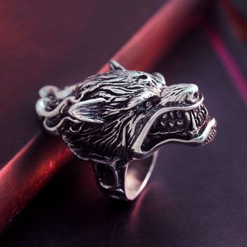 BIKER RING GAME OF THRONE HOUSE STARK