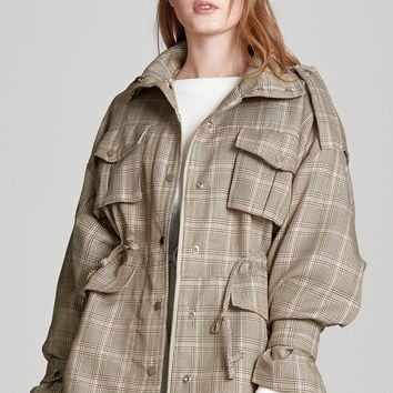 Nora Check Pocket Jacket Discover the latest fashion trends online at storets.com