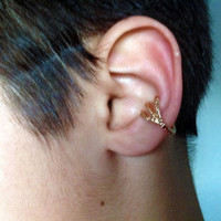 Single DRAGON EAR CUFF inspired by Game of Thrones Claw ear cuff, Gold earring, Talon earcuff, Unique Jewelry for men & women Right or Left