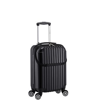 Euro Style Collection Ibiza Luggage Travel Bag ABS Trolley Spinner Suitcase Black