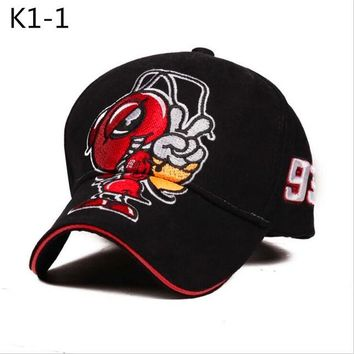 Sports Hat Cap trendy  2018 Hot Sell Cosplay Cartoon Big Ant Embroidery Marc Marquez Motorcycle Hat Sports Baseball Cap Men and Women Fashion Caps KO_16_1
