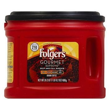 Folgers Gourmet Supreme Dark Roast Ground Coffee (24.2 oz. canister)