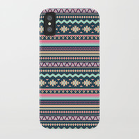 Colorful Aztec Tribal Pattern iPhone Case by Smyrna