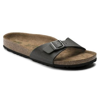 Sale Birkenstock Madrid Birko Flor Pull Up Anthracite 1009987 Sandals
