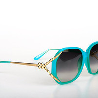 Linda Farrow/Matthew Williamson Sunglasses in Turquoise | Women's Fashion Shopping Online | DOLL BOUTIQUE
