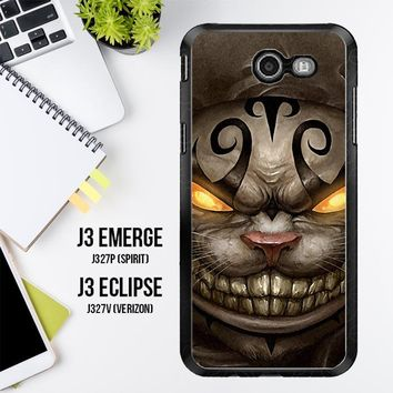 Alice Madness Returns Cheshire Cat Z0999 Samsung Galaxy J3 Emerge, J3 Eclipse , Amp Prime 2, Express Prime 2 2017 SM J327 Case
