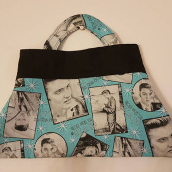 Rockabilly - pinup  - Retro - Elvis  - Presley  - rock and roll  - fashion - clutch - handbag