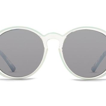 VonZipper - Lula Mint Crystal Tortoise Sunglasses / Silver Chrome Gradient Lenses
