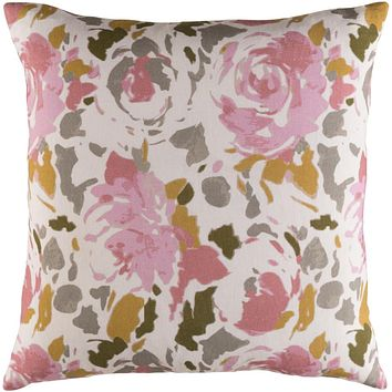 Kalena Pillow Kit - Khaki, Pale Pink, Bright Pink, Mustard, Dark Brown, Taupe - Poly - KLN004