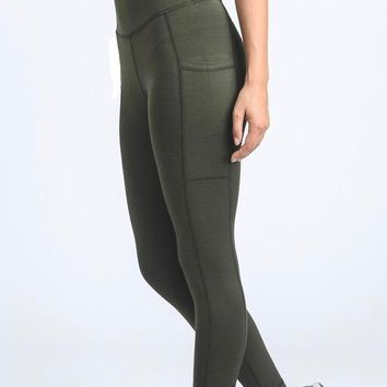 active hearts - ribbon accent full length sports leggings