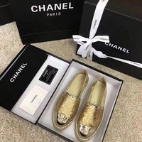 Chanel Sequin fisherman shoes