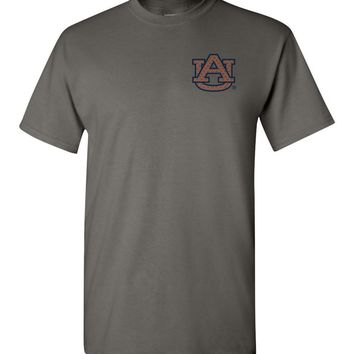 Official NCAA Auburn University Tigers Aubie Tiger WAR EAGLE! Short-Sleeve T-Shirt - 62AU-10-b