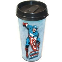 Captain America Retro Wrap Plastic Travel Mug