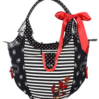 Banned Nautical Sailor Pin-up Striped & Polka Dot Anchor Love Handbag