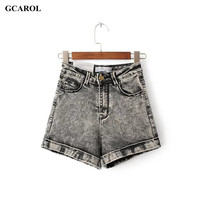Women Euro Style High Waist Denim Shorts Stretch Girl's Casual Summer Spring Basic Jeans Shorts High Quality Plus Size 29
