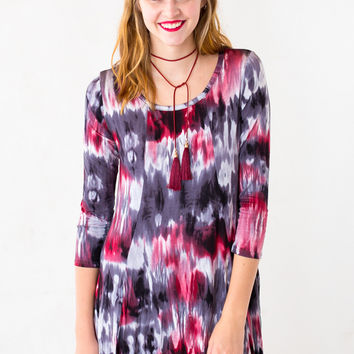 The Brice Tie-Dye Swing Dress