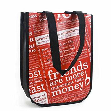 DCCKU3N Lululemon Red with Graphic Print Small Reusable Tote Carryall Gym Bag