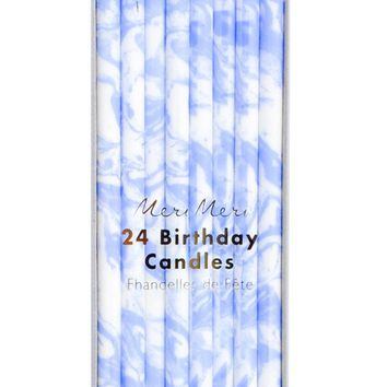Marbled Birthday Candles | LEIF