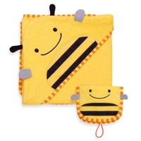 SKIP*HOP® Zoo Towel & Mitt Set in Bee