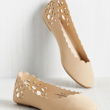 Above and Beau Monde Flat in Beige | Mod Retro Vintage Flats | ModCloth.com