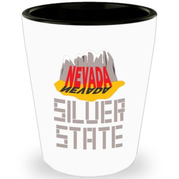 Nevada Silver State Shot Glass Gift