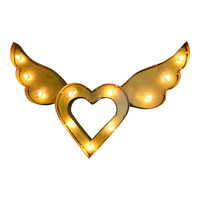 Flying Heart Symbol Marquee Sign Light