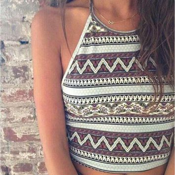 Trendsy Aztec Crop Top