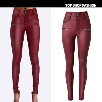 Women's Fashion High Waist Slim Pants Skinny Pants [6365916420]