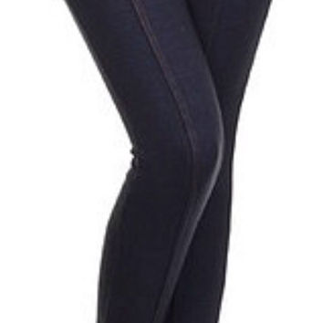 Zippered High Waisted Fleece Lined Jeggings