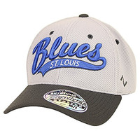 Zephyr NHL Team Script Stretch Fit Hat (St. Louis Blues, XL)